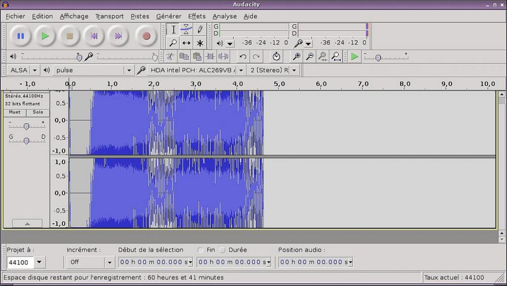 Audacity is a free sound editor.