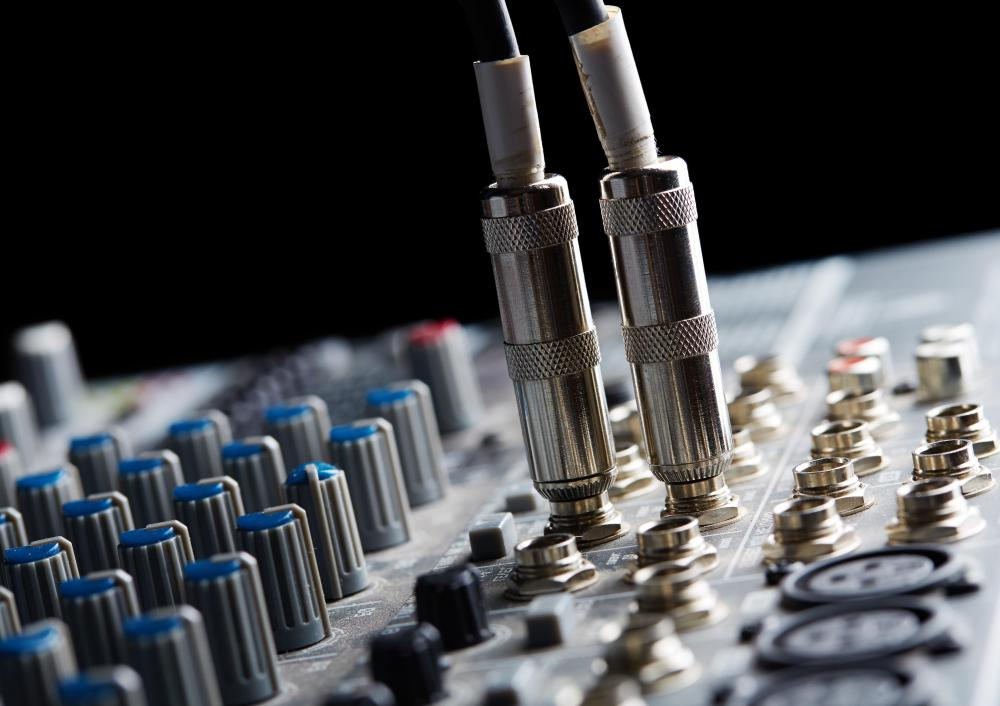 Most professional music equipment uses quarter-inch jacks to allow cables to be plugged in.