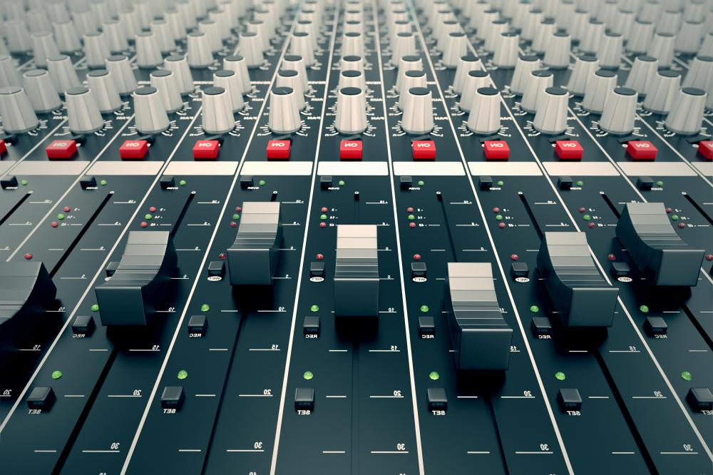 An audio mixer is one of the key components of music production.
