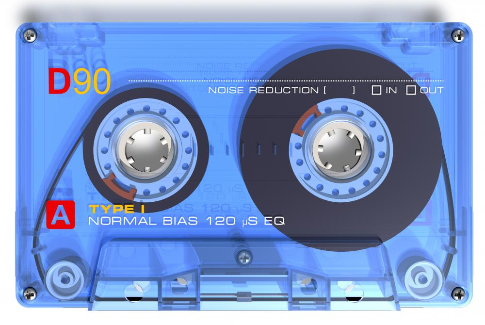 Audio cassettes are created by using a transducer to turn the electrical signal from the microphone pick-up into magnetic fluctuations on the tape head.