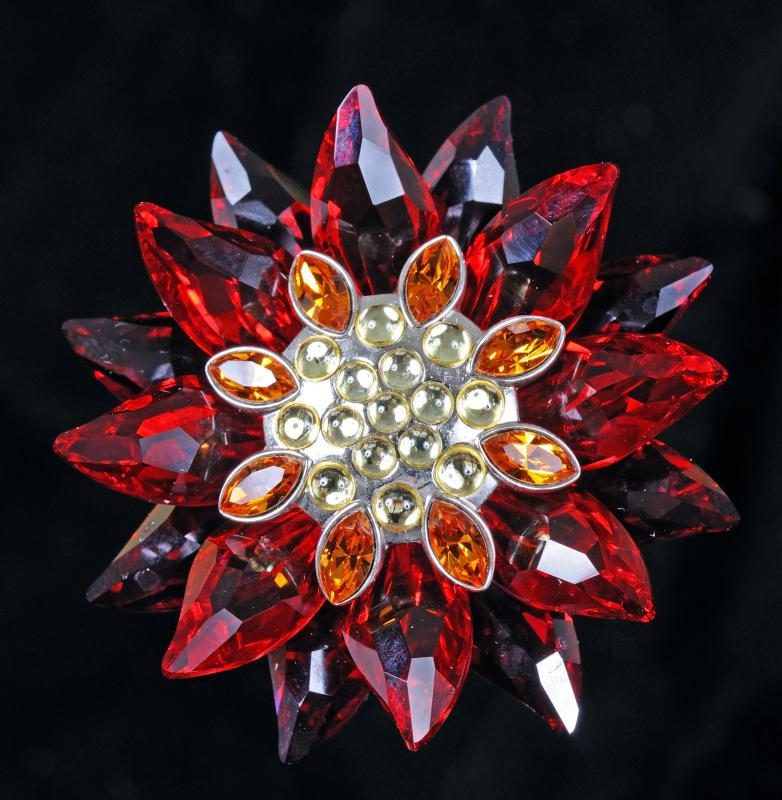 Austrian crystal can be used to make beautiful floral designs.