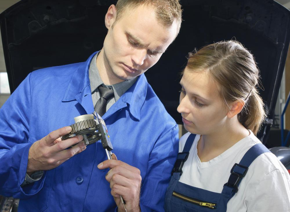 Most vocational training includes a large amount of hands-on experience.