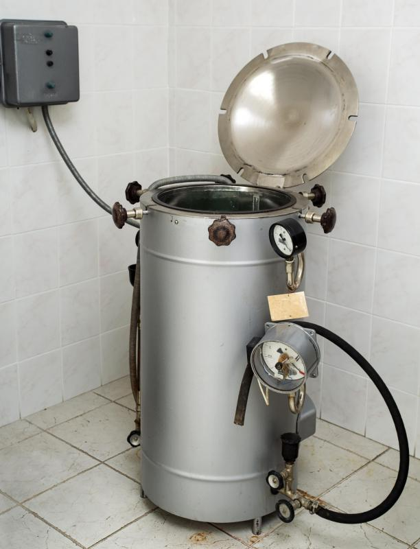 A microbiology lab may contain an autoclave for sterilizing equipment.
