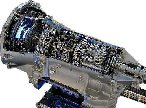 Cutaway view of an automatic transmission.