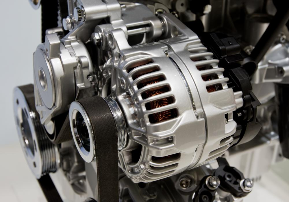 Automobile engines typically use pulley systems, such as those that work with the alternator, fans, water pumps, and timing gears.