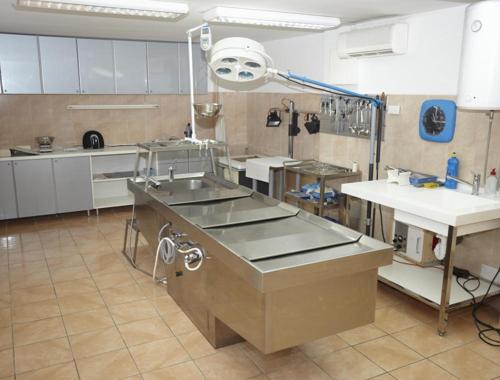 A medical pathologist typically works in a morgue.