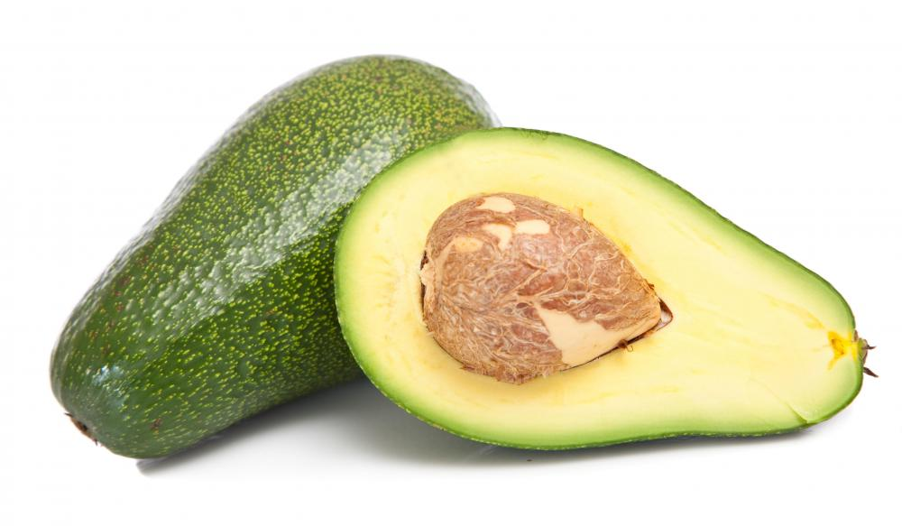 Avocado wedges are sometimes used as garnish for a Crock-Pot chicken tortilla soup.