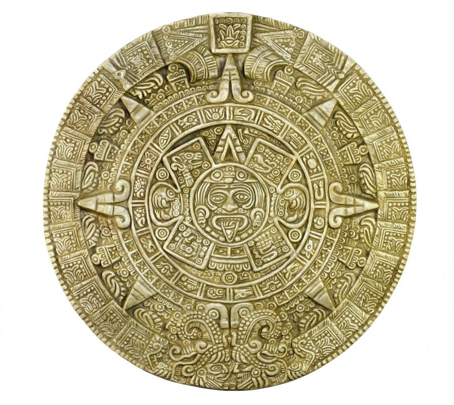 Historical archaeologists study artifacts like the Aztec calendar.