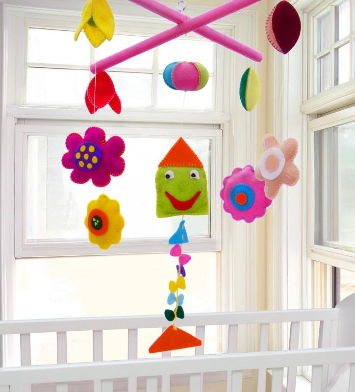 The most popular types of mobiles are those that hang above cribs, play music, rotate, and give an infant something to focus on.