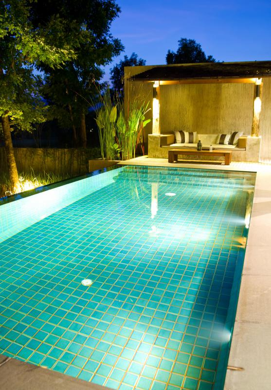 Rectangular pools are ideal for people who want to swim laps.