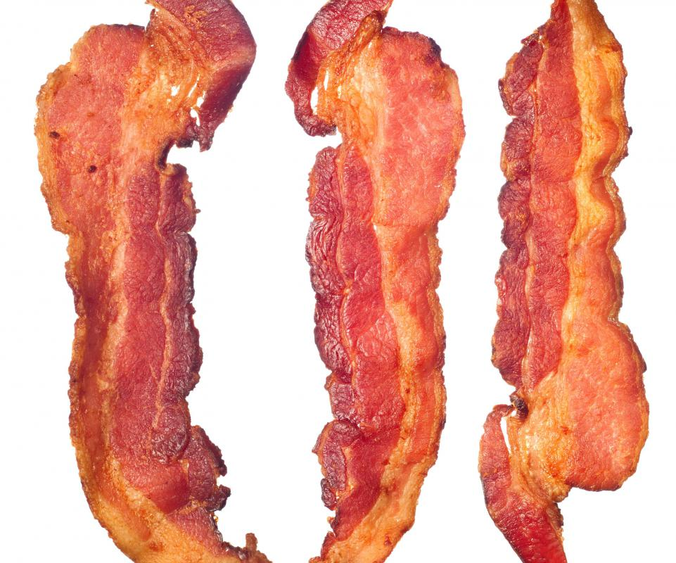 Bacon is a popular ingredient in soups.