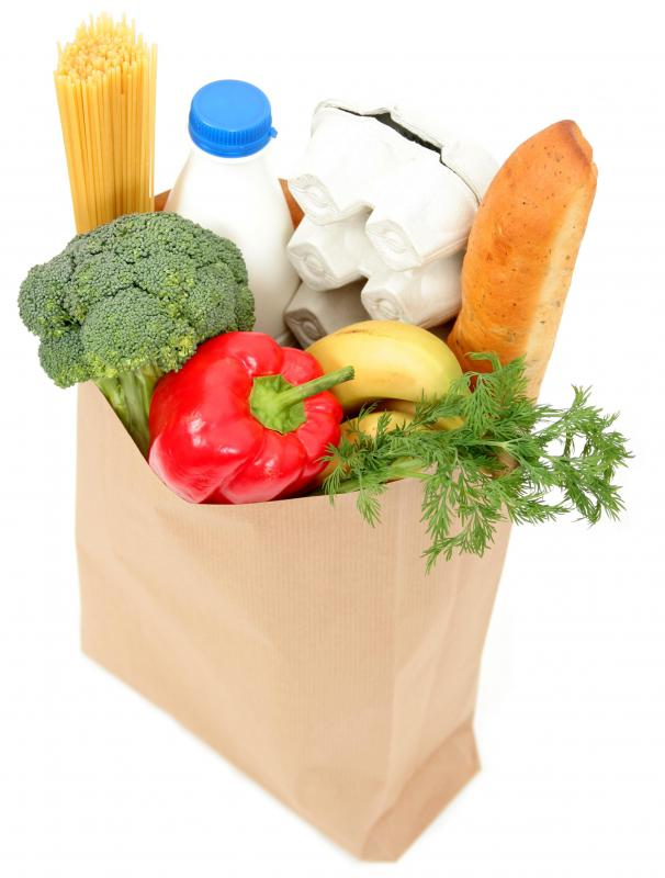 Groceries are an example of consumer goods.