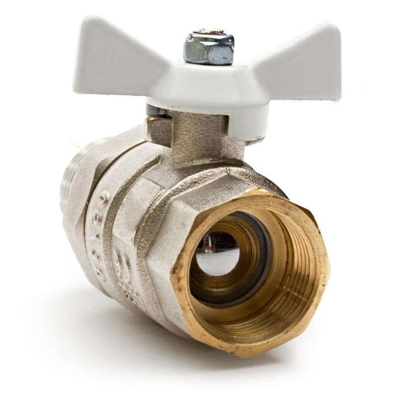 Ball valves control the flow of a gas or liquid by rotating a spherical surface inside the pipe.