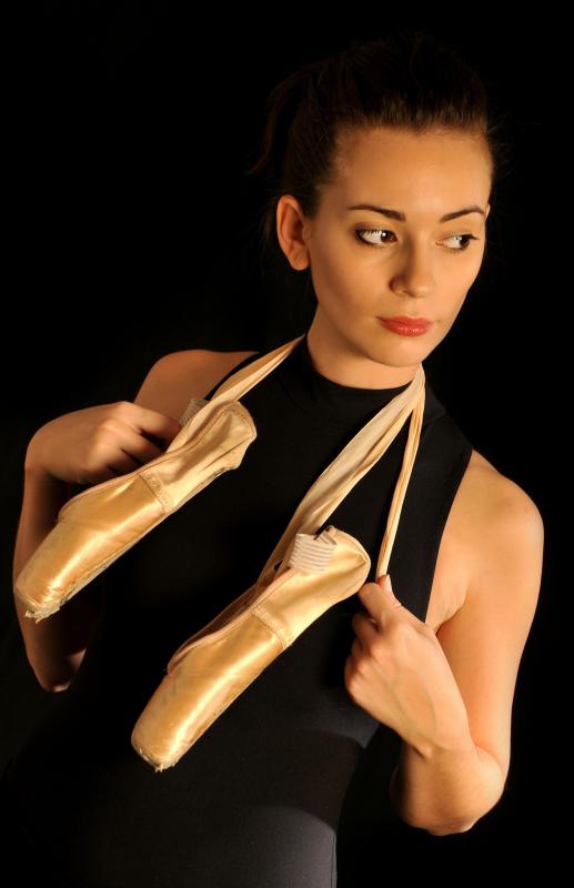 Ballet flats are modeled after ballerinas' shoes.