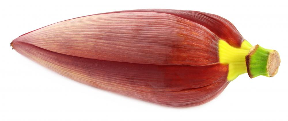 A vegetarian version of the kelaguen replaces meat with banana flowers.