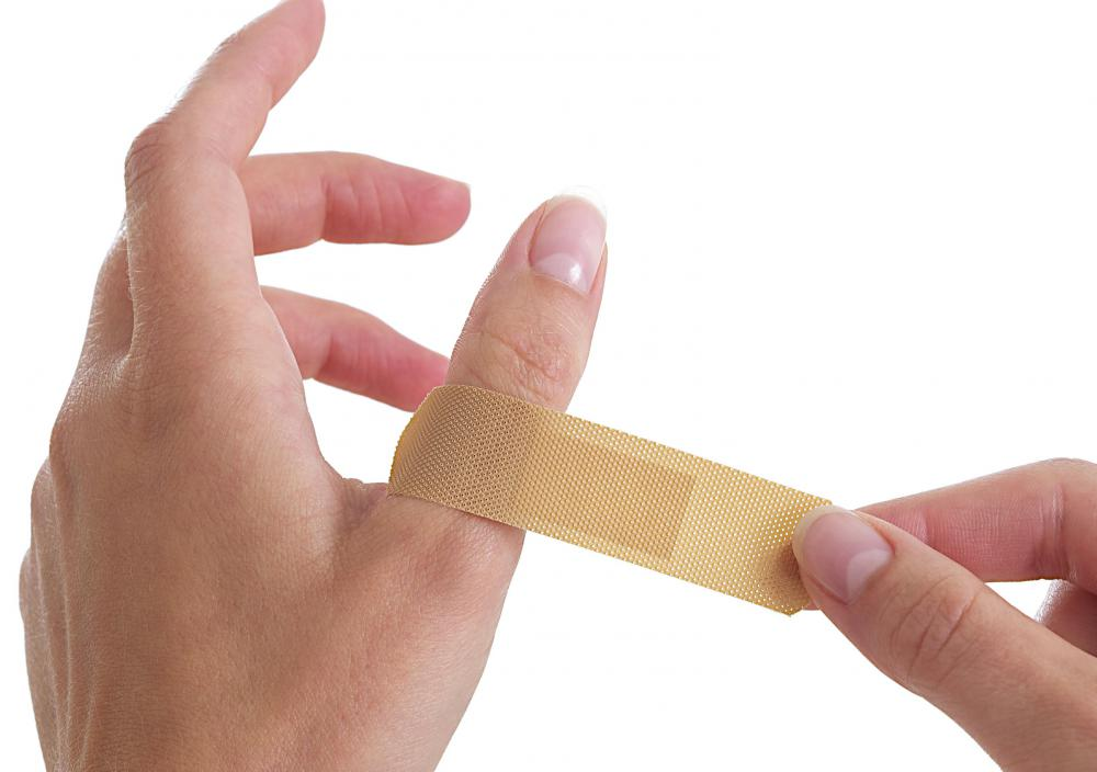 First aid supplies, such as bandaids, should be present in a workshop area.