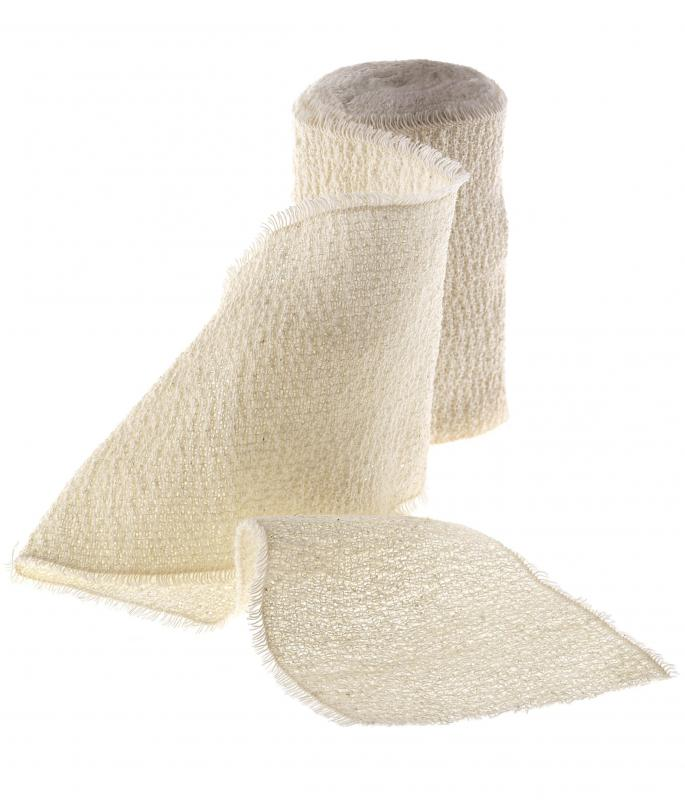 A crepe bandage is elastic, allowing it to easily wrapped.
