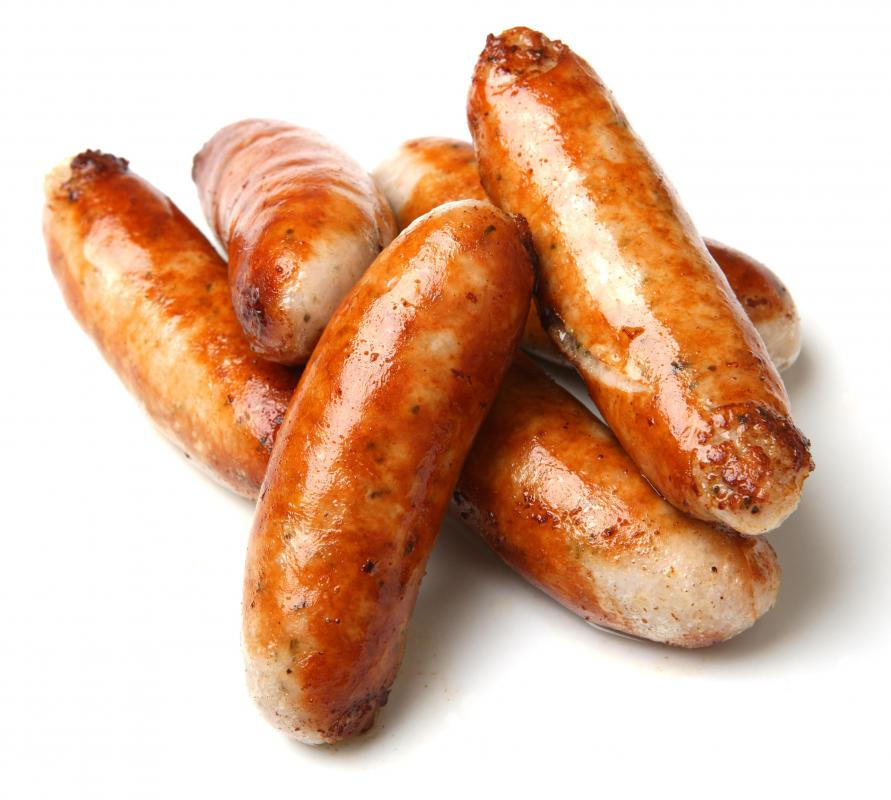 Bangers, which are pan-fried sauages, are popular pub fare.