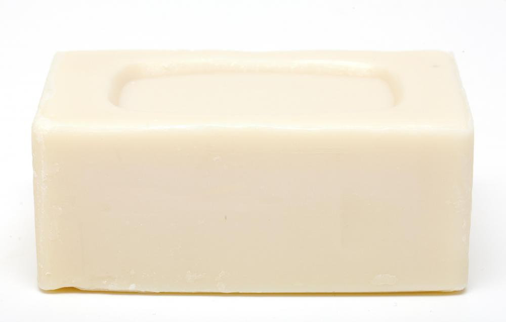 A bar of soap made with olive oil, which can help with dry skin.