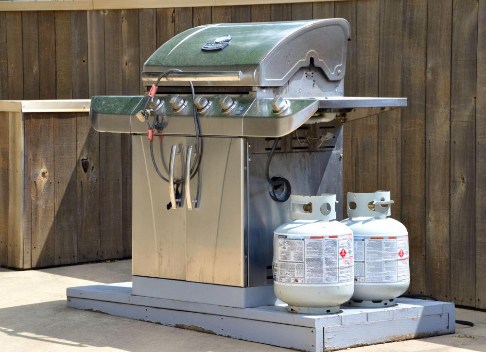 Propane is commonly used during a barbecue.