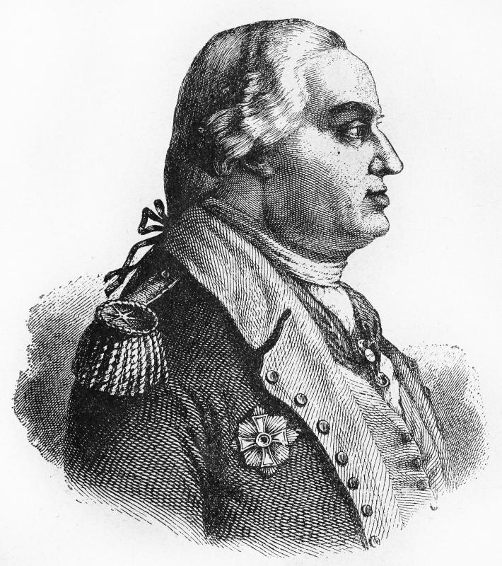 Baron Friedrich Wilhelm von Steuben was a Prussian military officer who helped train and drill the Continental Army.