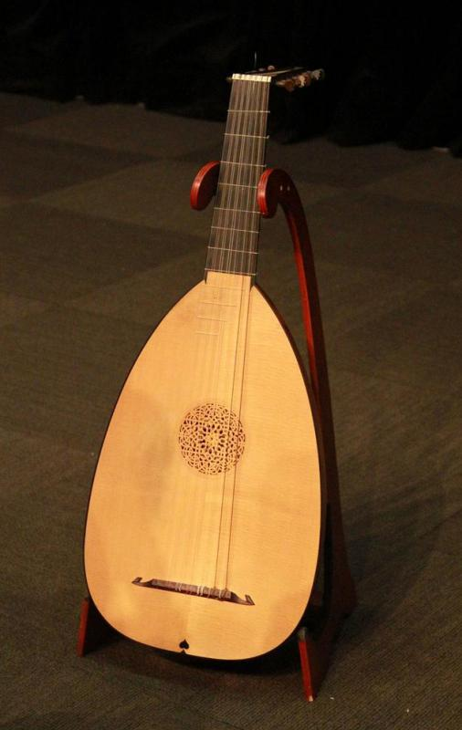 Lutes are stringed instruments that are similar to modern acoustic guitars.