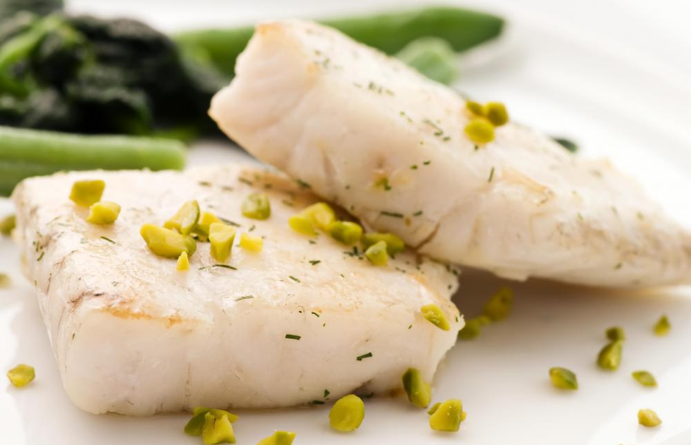 Fish contains healthy fats and high levels of protein.
