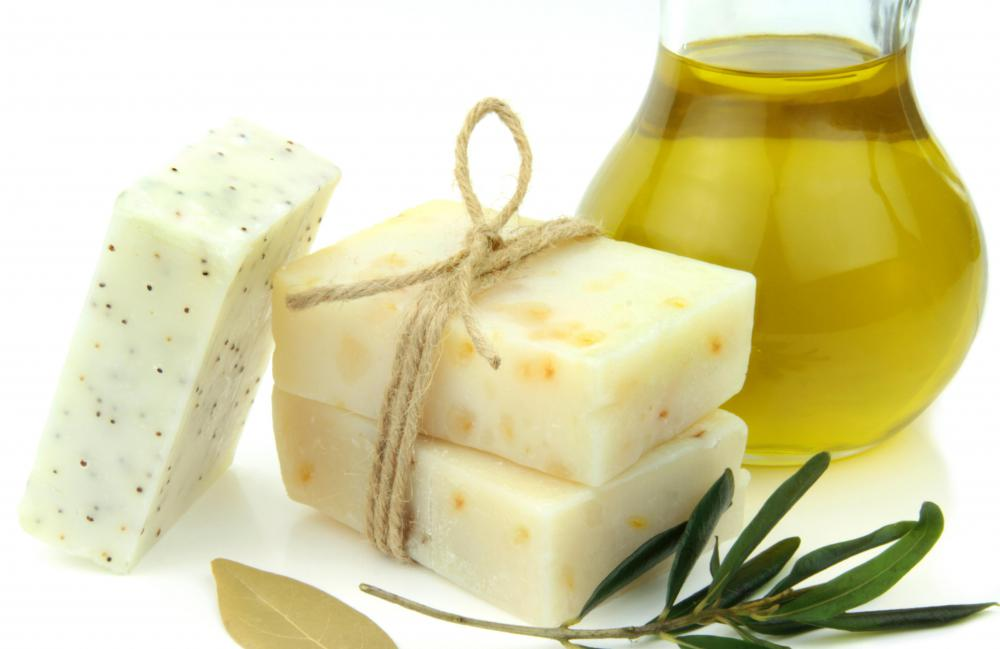 Use handmade soap containing glycerin to help treat chapped hands.