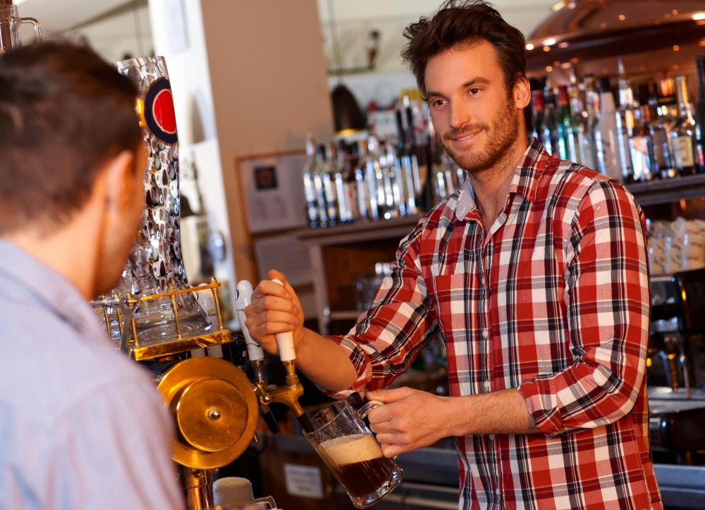 A running balance can relate to the amount owed on a local bar tab.