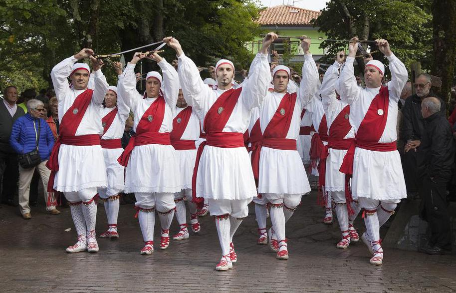 Basque dances often include the use of swords.
