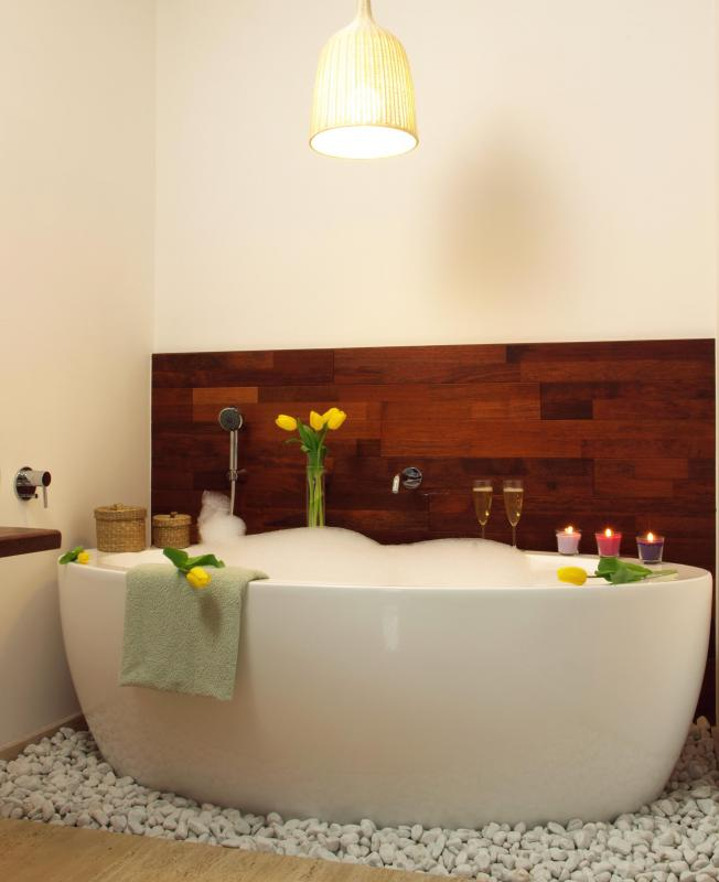 A relaxing bath at the end of the day can reduce stress.