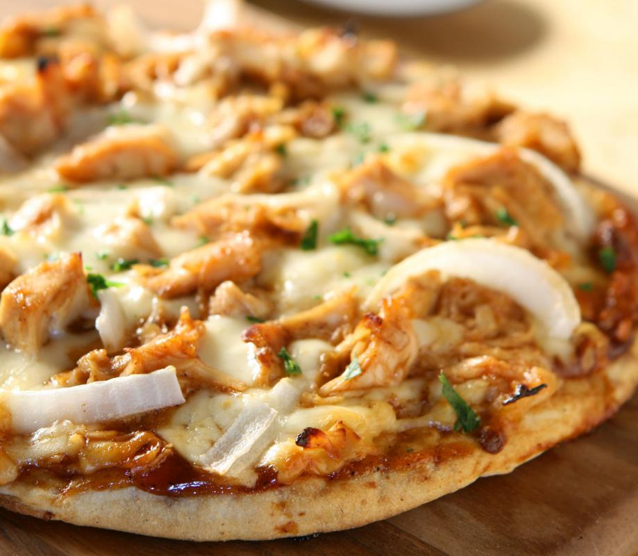 Barbecue chicken is a favorite pizza topping in the United States.