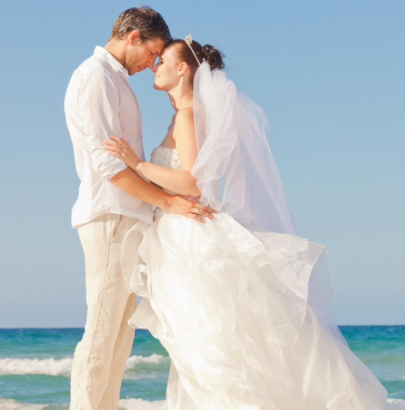 Travel and hotel costs should be considered when planning an overseas wedding.