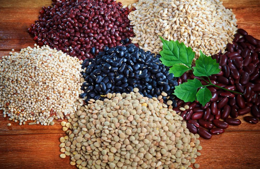 Beans are high in fiber and beneficial to a fiber rich diet.