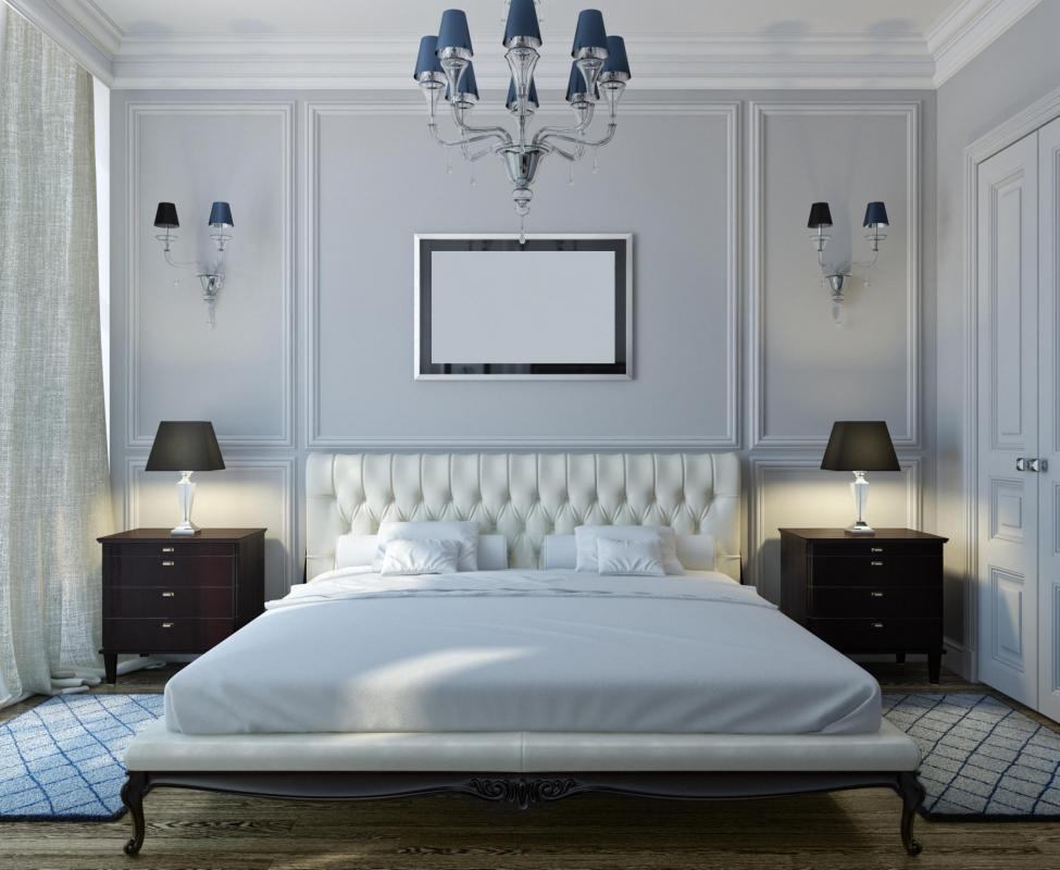 Some people with sleek, minimalist bedrooms choose to have little or no art.