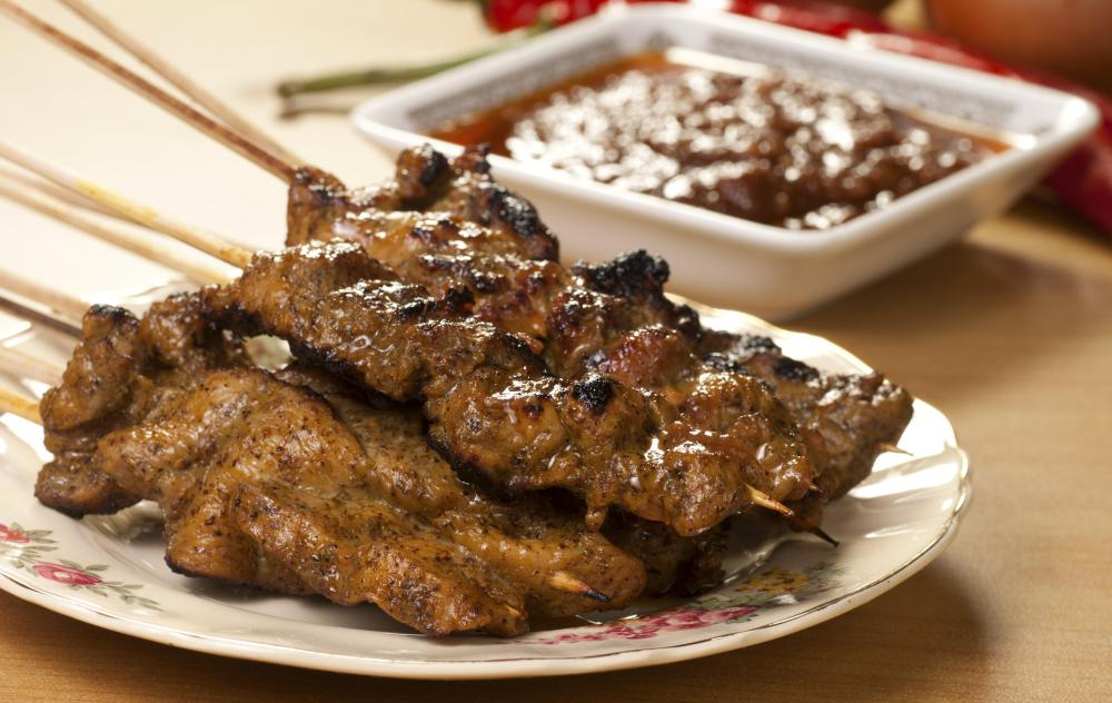 satay skewers with beef satay skewers with beef satay skewers with ...