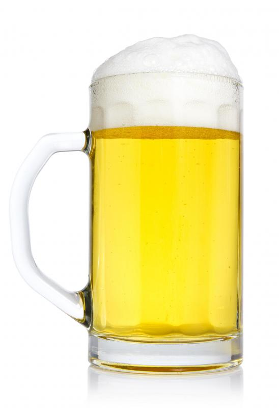 Beer can deplete neurotransmitters, thus  inhibiting brain functions.