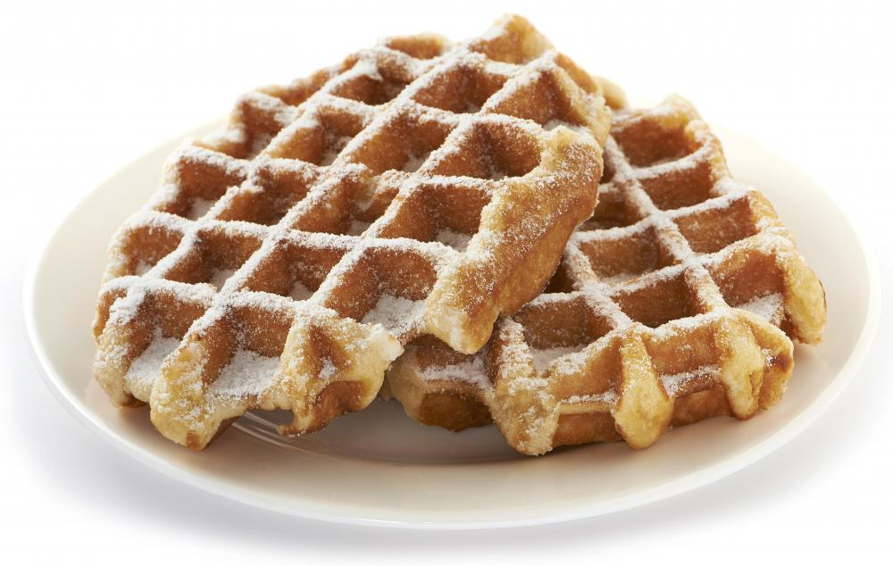 Almond cream can be used to top waffles.