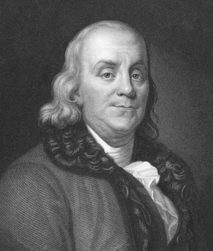 Benjamin Franklin developed an early flexible catheter.