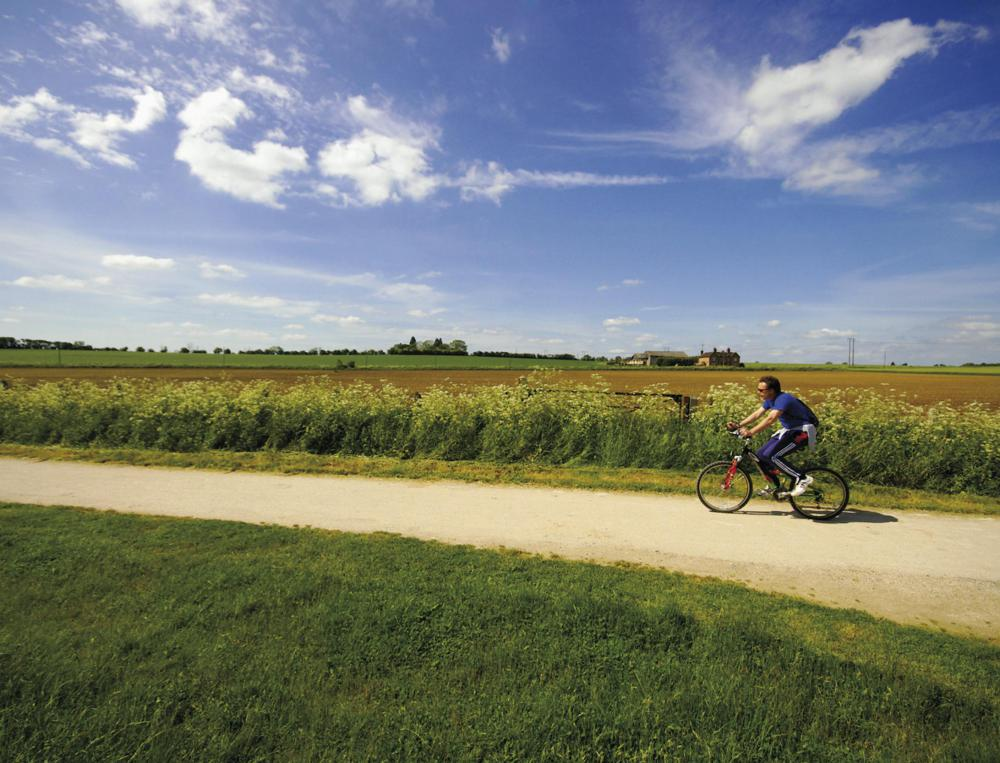 Many people go for long bike rides to increase their endurance.