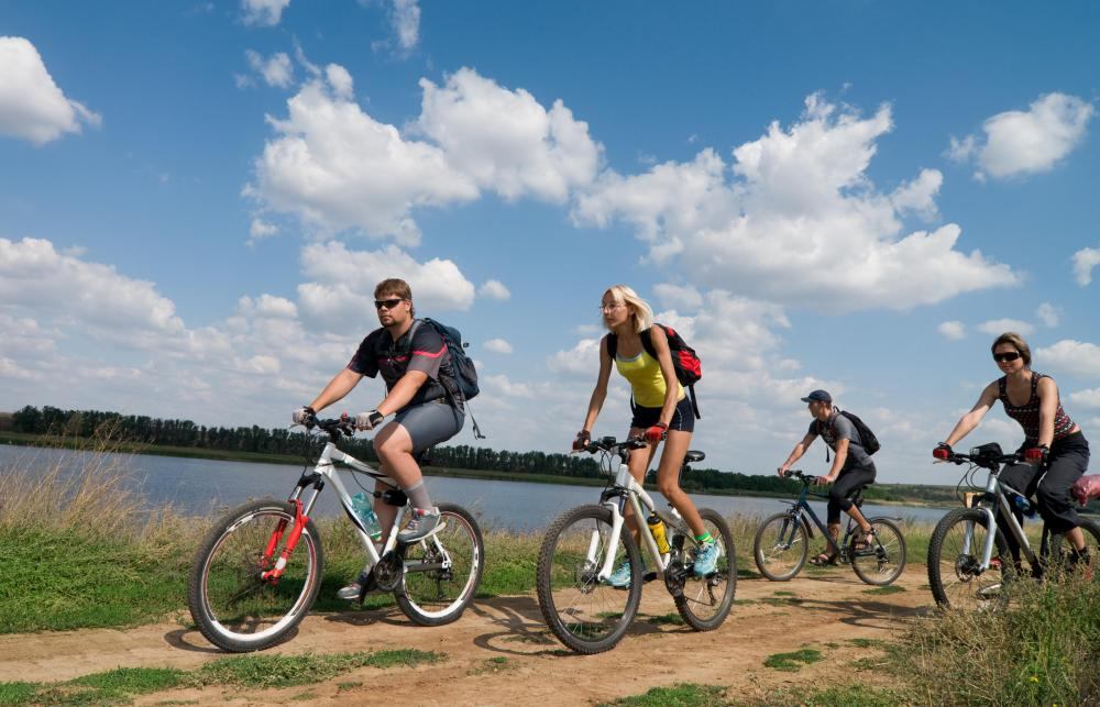 Cycling is a popular activity that may be included in a shred workout.