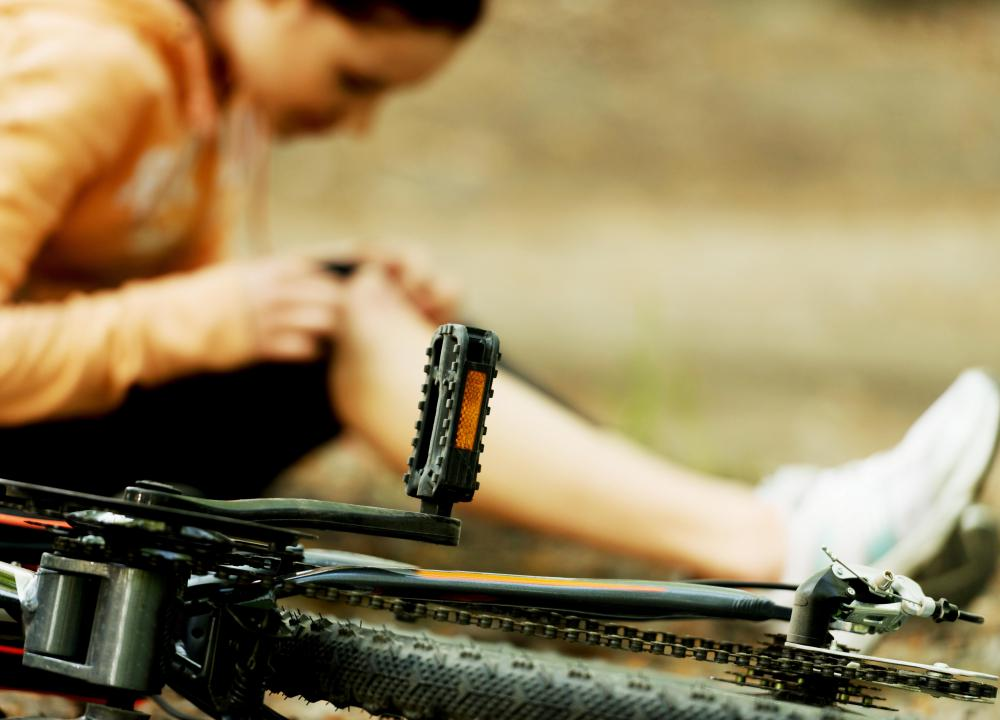 Even the best biking equipment can only provide minimal protection from injury, so injuries are common with biking accidents.