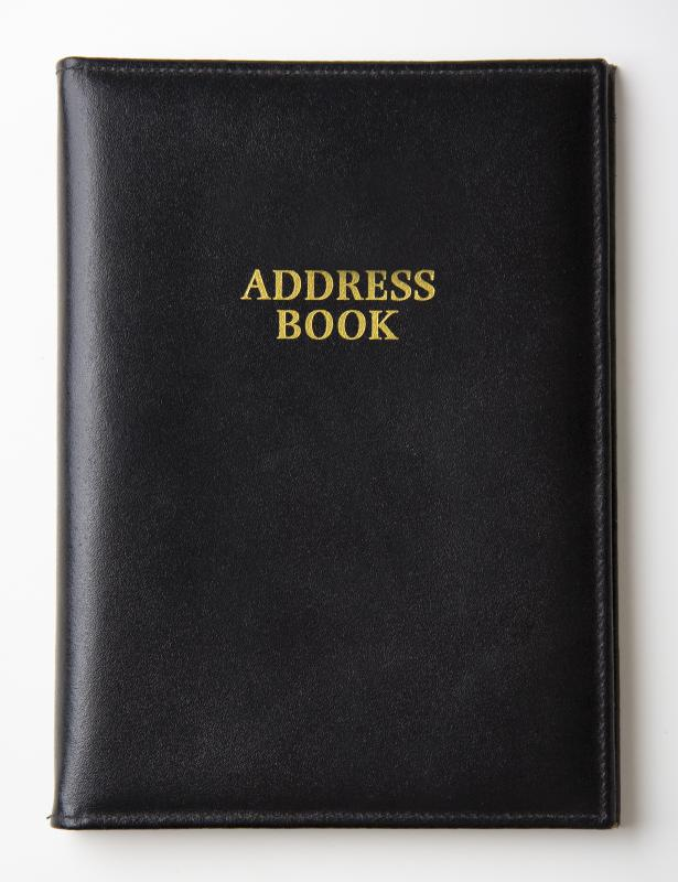 Information from a traditional address book may be imported into a personal digital assistant.
