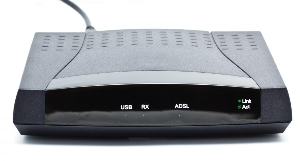 An ADSL modem can deliver Internet speeds of up to 3 mbps.