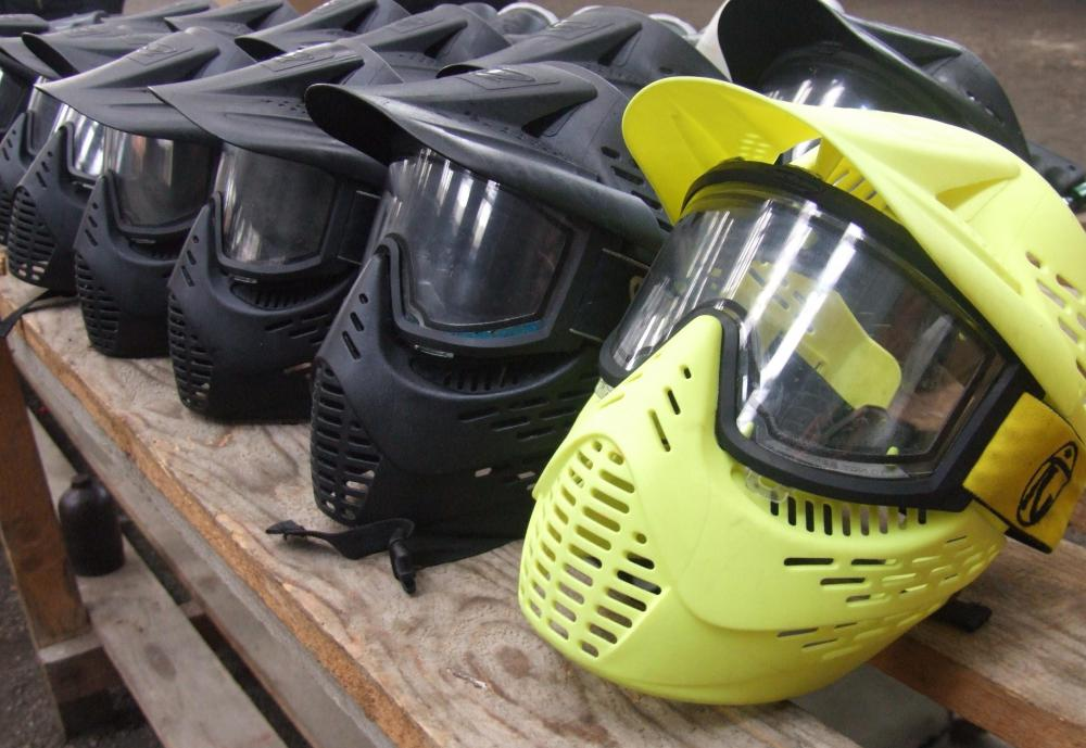 The full face mask is a popular protective gear item used by airsoft players and paintball players.
