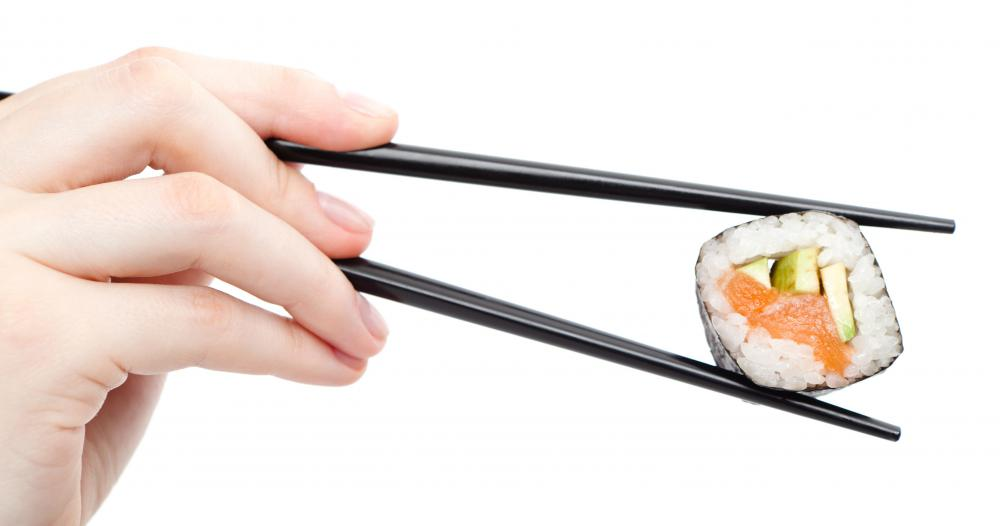 Chopsticks can be made of bamboo, wood, plastic, or stainless steel.