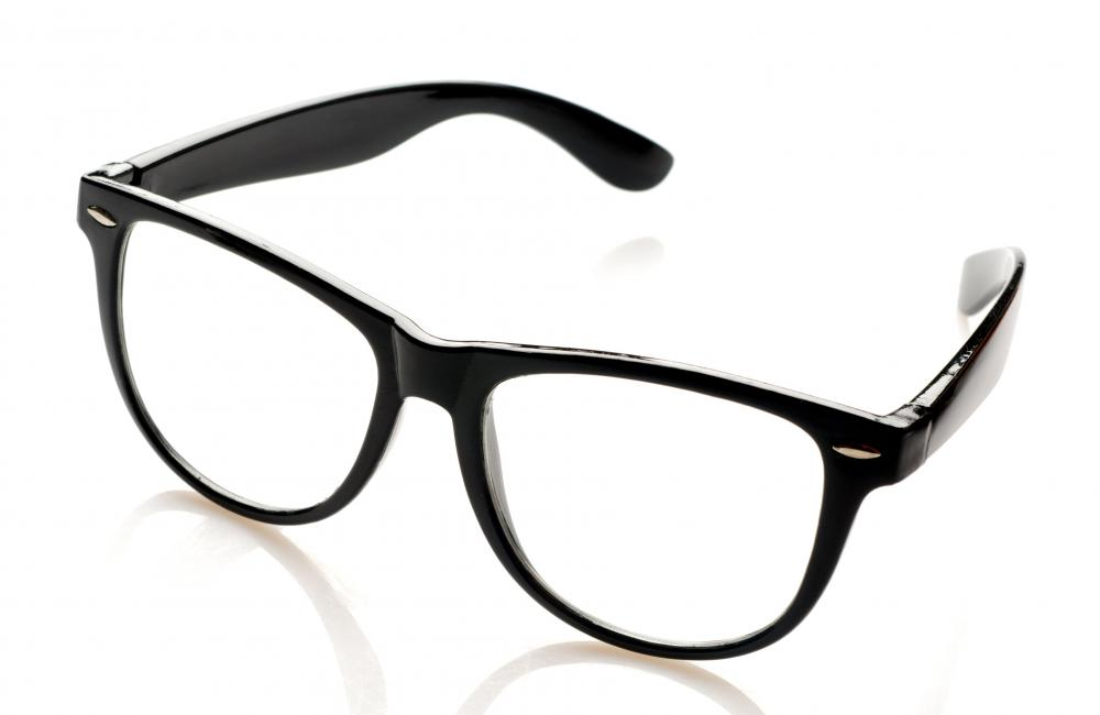 Polycarbonate, a common type of thermoplastic, is used in eyeglass lenses.