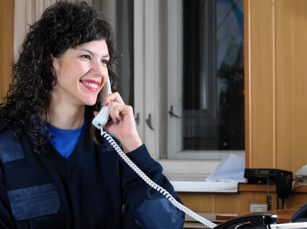 Some virtual receptionists work for multiple clients out of a home office.