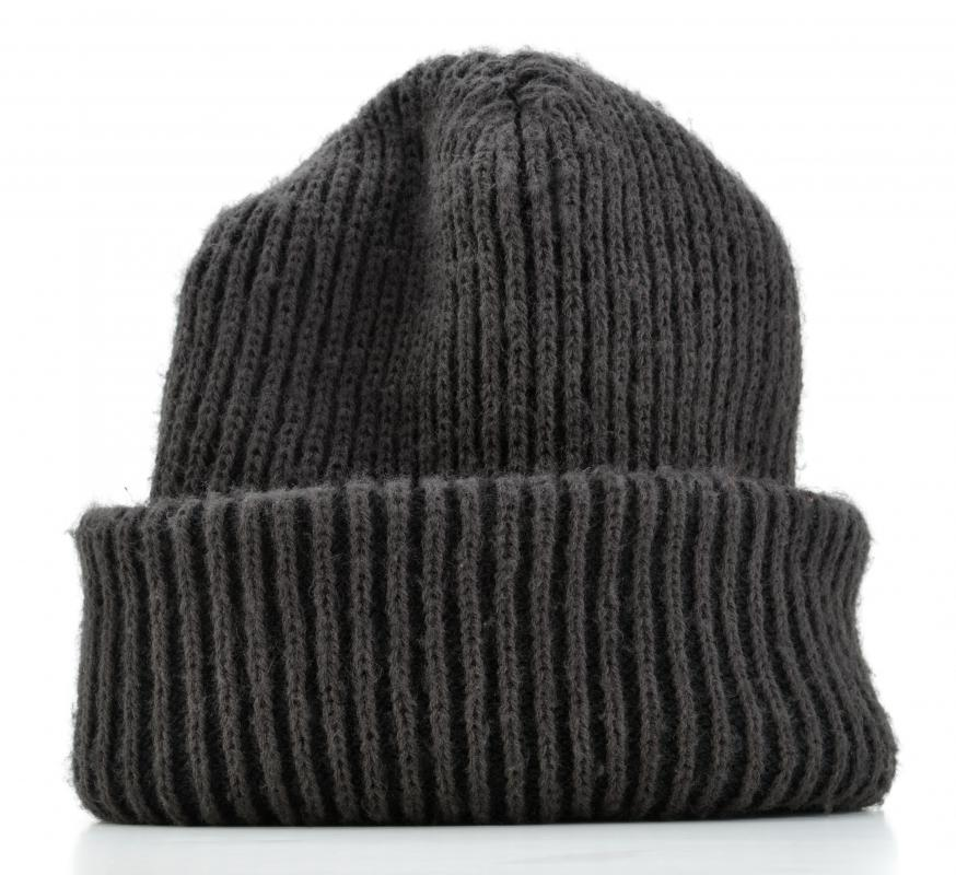 During the colder months, skateboarders may wear knit caps.