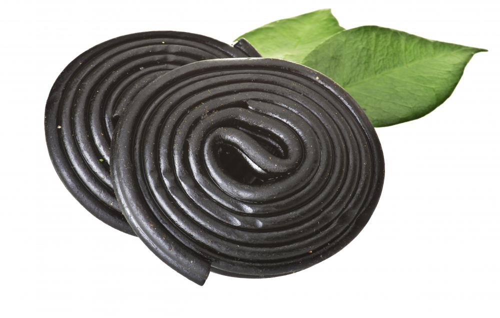 Black licorice candy.